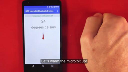 TemperatureService - micro:bit runtime